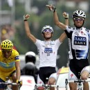 Frank and Andy Schleck make the race