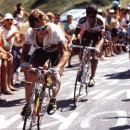 LeMond and Indurain climb to the ski resort at Luz Ardiden