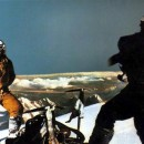 Lino Lacedelli and Achille Compagnoni at the summit of K2 in 1954. Photo: K2: Challenging The Sky