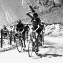 Bartali and Coppi ride high on the barren slopes of the Galibier