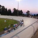 racing at the Marymoor velodrome