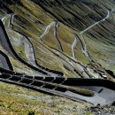 The famous bends of the Stelvio