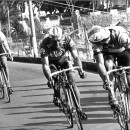 Lemond and Beccia are caught by a terrifying Kelly on the Poggio.