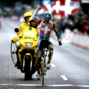 Camenzind barely had the energy to celebrate in '98. Photo: Bettini Photo