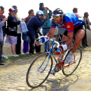 "Sean ""Animal"" Yates corners on the cobbles."