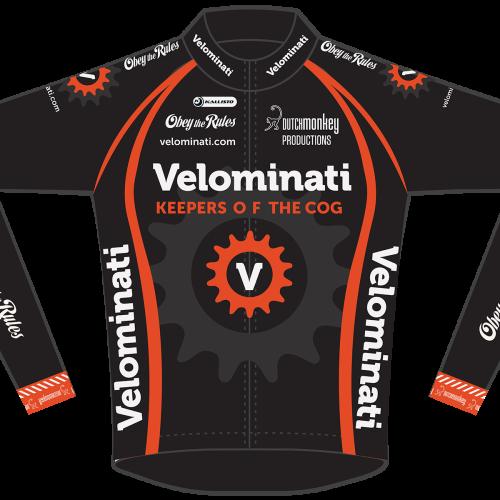 Long Sleeve Zwarte V-Jersey mockup: Front