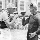 Leducq and Frantz enjoying a pair of Belgians