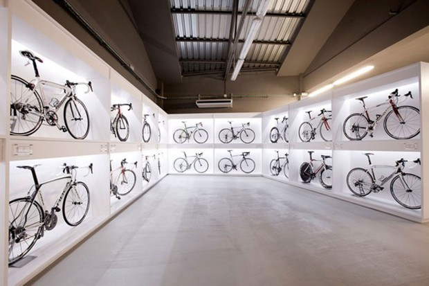 The bike shop, enter at your own risk.