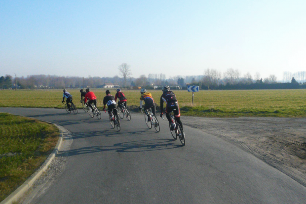 A cold morning ride on Keepers Tour 2013. Photo: Brett Kennedy