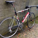 Black reflective tape on the Rain Bike