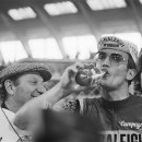 Jan Raas, 5 time winner, not drinking Amstel Gold. photo-Peters, Hans / Anefo