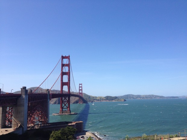 The Golden Gate into Cycling utopia.
