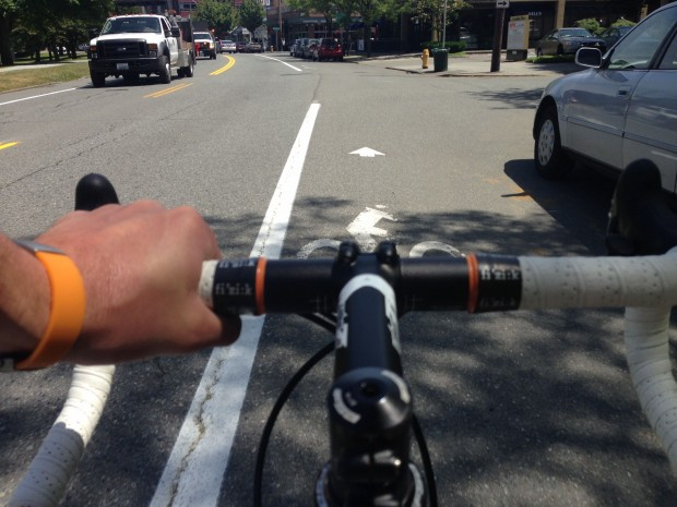 Stay on your toes: you're in the bike lane now.