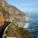 The road to Chapman Peak south from Cape Town, South Africa.