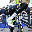 Diego Caccia demonstrates how to make tights work. Photo: Pedale.Forchetta
