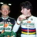 Laurent Fignon and Gianni Bugno in 1992. Photo Archivio Agenzia Aldo Liverani Sas Retrospettiva