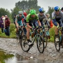 Sep Vanmarcke rides the cobbles Kelly-Style in the 2014 stage to Port du Hinault. Photo: Cycling Tips
