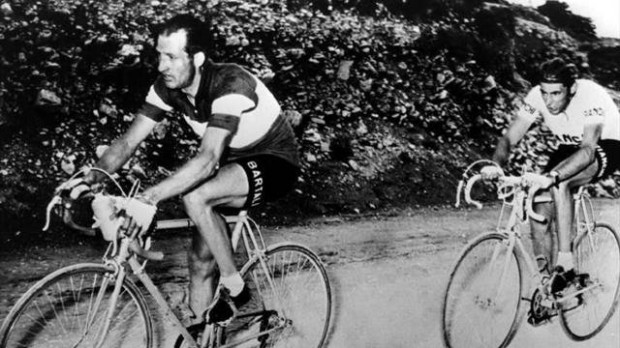 Bartali and Coppi on the front of the Giro.