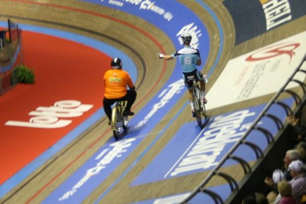Derny Driver Joop Zijlaard and Rider Iljo Keisse