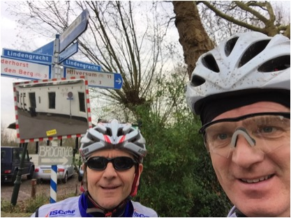 The group. Vreeland. 140 kilometers into the ride. The brother (r); the convener.