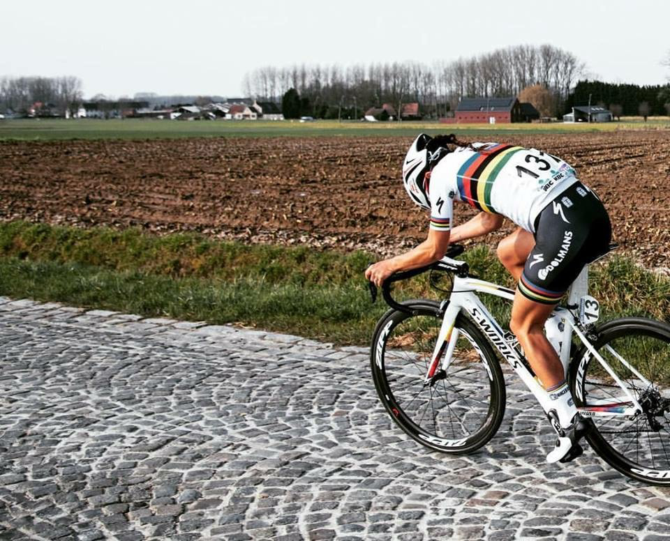 These cobbles don't stand a chance against little Lizzie A. Photo: Ashley Gruber.